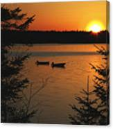 A Maine Sunset Canvas Print