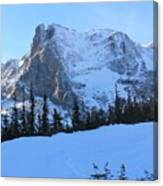 A Majestic Winter View Canvas Print