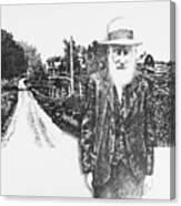 A Man And His Farm Canvas Print