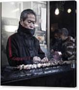 A Man And His Grill Canvas Print