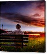 A Man And His Hat Canvas Print