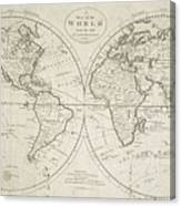A Map Of The World From The Best Authorities Canvas Print