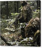 A Marine Sniper Team Wearing Camouflage Canvas Print