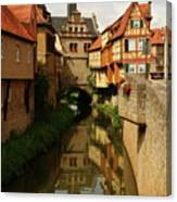 A Medieval Village In Germany Canvas Print