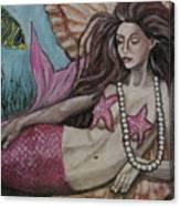A Mermaid Named Pearl Canvas Print