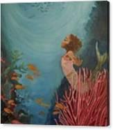 A Mermaid's Journey Canvas Print