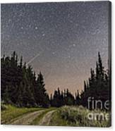 A Meteor And The Big Dipper Canvas Print