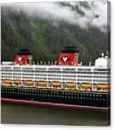 A Mickey Mouse Cruise Ship Canvas Print