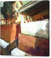 A Mid Western Street Canvas Print