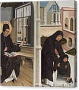 A Miracle Of Saint Benedict Canvas Print