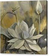 A Moment At The Lotus Pond Canvas Print