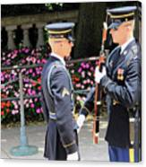 Face To Face During The Changing Of The Guard Canvas Print