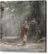 A Monk Reading Canvas Print