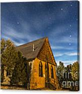 A Moonlit Nightscape Of The Historic Canvas Print