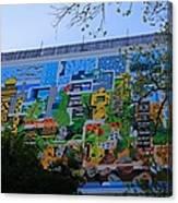 A Mural On The San Antonio Riverwalk Canvas Print