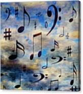 A Musical Storm 3 Canvas Print