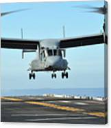 A Mv-22 Osprey Aircraft Prepares Canvas Print