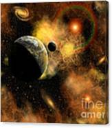 A Nebulous Star System In A Distant Canvas Print