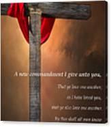 A New Commandment  Canvas Print