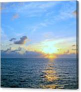 A New Dawn At Sea Canvas Print