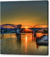 A New Day Chattanooga Sunrise Market Street Bridge Canvas Print