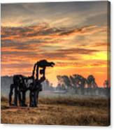A New Day The Iron Horse Canvas Print