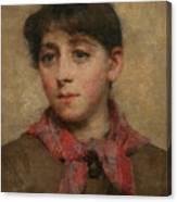 A Newlyn Maid Canvas Print