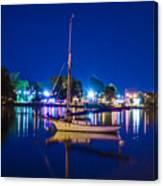 A Night At The Lake Canvas Print