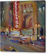 A Night At The Theater Canvas Print