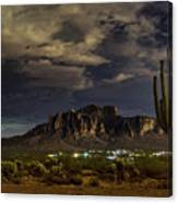 A Night In The Superstitions  Canvas Print
