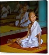 A Novice Monk In Rural Thailand Canvas Print