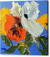 A Nudge Of Pansies Canvas Print