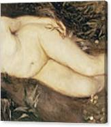 A Nymph By A Stream Canvas Print
