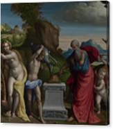 A Pagan Sacrifice Canvas Print