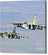 A Pair Of Bulgarian Air Force Sukhoi Canvas Print