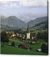 A Pastoral View Of A Village Canvas Print