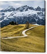 A Path In The Dolomites - Alta Badia, Italy - Landscape Photogra Canvas Print