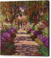 A Pathway In Monets Garden Giverny Canvas Print