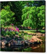 A Peaceful Feeling At The Azalea Pond Canvas Print