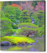 A Peaceful Garden Canvas Print