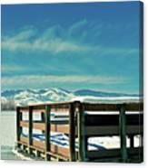 A Peaceful Pier Canvas Print