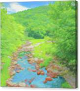 A Peaceful Summer Day In Southern Vermont. Canvas Print