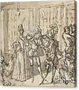 A Performance By The Commedia Dell'arte Canvas Print