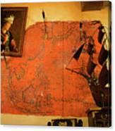 A Pirates Map Room Canvas Print