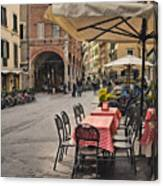 A Pisa Cafe Canvas Print