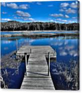 A Place To Dock On The Moose Canvas Print