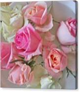 A Plate Of Roses Canvas Print
