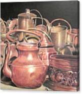 A Plethora Of Pots Canvas Print