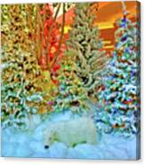 A Polar Bear Christmas 2 Canvas Print