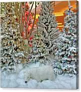 A Polar Bear Christmas Canvas Print